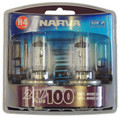 Narva Plus 100 H4 75/70 Watt Halogen Globe 24 Volt - Pair