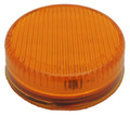 2 inch Round Amber Dual Function LED Light with Amber Lens 12 Volt
