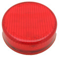 2 inch Round Red Dual Function LED Light with Red Lens 12 Volt