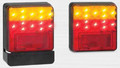 100 Series LED Combination Light Stop/Tail/Indicator with Licence Plate Lamp 12 Volt - Pair