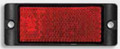 LED autolamps Red Reflector with Mounting Bracket - Pair