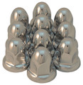 32mm Chrome Acorn Nut Cover Flared - Pack of 10