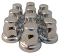33mm Chrome Flat Top Nut Cover Flared - Pack of 10