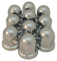 41mm Chrome Nut Cover Long Flared - Pack of 10