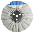 Zephyr White/Blue Finishing Airway Buffing Wheel - 8 inch