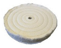Zephyr Cotton Muslin 60 Ply 5-Row Sewn Buffing Wheel - 10 inch