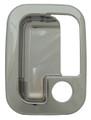 Chrome Plastic Exterior Door Handle Cover - Pair