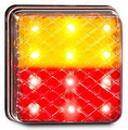 LED Autolamps Stop/Tail & Indicator Lamp with Clear Lens - Pair