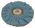 Zephyr Blue/White Show Shine Final Finish Airway Buffing Wheel - 10 inch