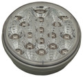 4 inch Round Amber LED Indicator Light with Clear Lens