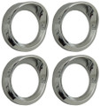 Chrome Gauge Cover Small with Visor Suits Australian Kenworth (Pack of 4)