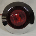 1 inch Mini Red LED Light with Chrome Bezel