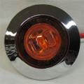 1 inch Mini Amber LED Light with Chrome Bezel