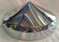 Rear 8 inch Chrome Pointed Hub Cap