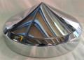 Rear 8 inch Chrome Pointed Hub Cap