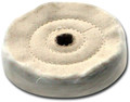 Zephyr 3 inch Cotton Muslin 40 Ply 2-Row Sewn Buffing Wheel