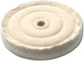 Zephyr 4 inch Cotton Muslin 50 Ply 3-Row Sewn Buffing Wheel