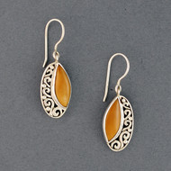 Oblong Swirl Earrings