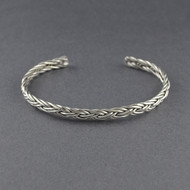 Sterling Silver Weaved Cuff
