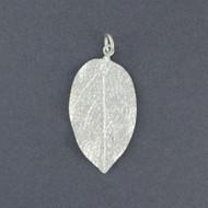 Sterling Silver Detailed Leaf Pendant