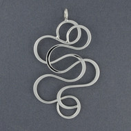 Sterling Silver Large Squiggle Pendant