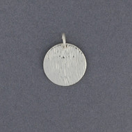 Sterling Silver Textured Disc Pendant