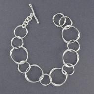 Sterling Silver Molded Circles Bracelet