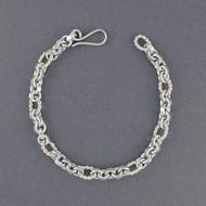 Sterling Silver Mini Twisted Link Bracelet