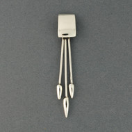 Sterling Silver Square and Points Pendant