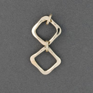 Sterling Silver Double Diamond Drop Pendant