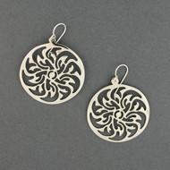 Sterling Silver Pinwheel Earrings