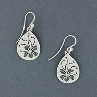 Hibiscus Teardrop Earrings