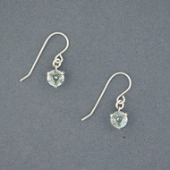 Aquamarine Prong Earrings