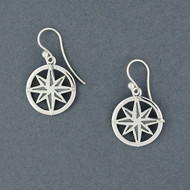 Exclusive Rhode Island Compass Rose Earrings
