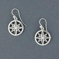 Exclusive Rhode Island Compass Rose Earrings
