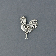 Sterling Silver Rooster Pin