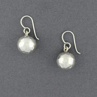Sterling Silver Hammered Sphere Dangles