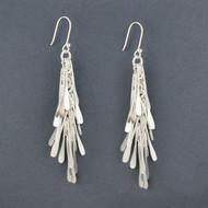 Sterling Silver Rain Earrings