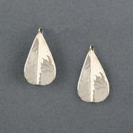 Sterling Silver Folded Drop Earrings