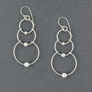 Sterling Silver Loops and Dots Dangle