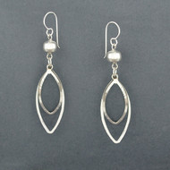 Sterling Silver Sphere and Dangle Earrings