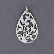 Sterling Silver Teardrop Cutout Pendant