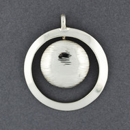 Sterling Silver Circle and Sphere Pendant