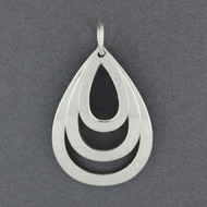 Sterling Silver Layered Teardrops Pendant