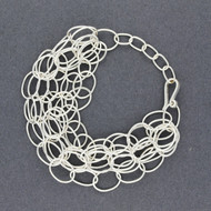 Sterling Silver Layered Oval Link Bracelet