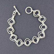 Sterling Silver Double Squares Bracelet