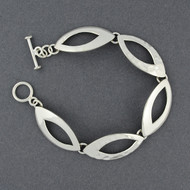 Sterling Silver Dual Textured Link