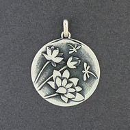 Lotus Flower and Dragonfly Pendant