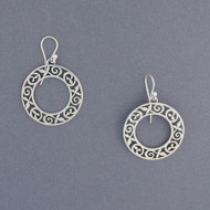 Large Circle Vine Earrings