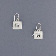 Framed Leaf Earrings